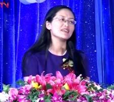 中央电视台综合频道总监钱蔚开启致词