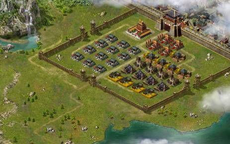 古代城池平面图素材