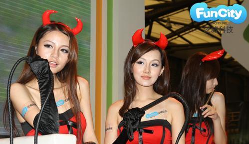 可爱小恶魔纹身图案卡通动漫小恶魔图片; chinajoy2011:回顾cj第2日