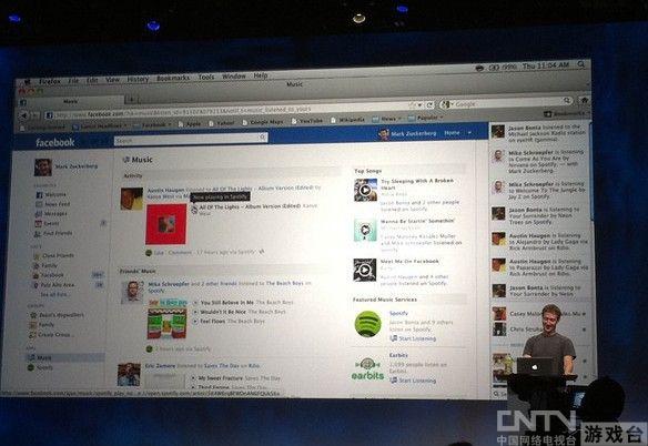 facebook f8大会实录:推接入音乐服务