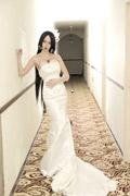 《海贼王》蛇姬婚纱COS 霸气的蛇姬穿婚纱!给力!