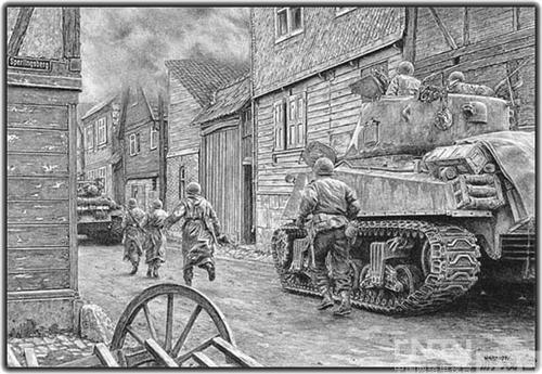超牛《坦克世界》铅笔画 一起领略大师的风采