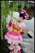 《剑网3》七秀萝莉COS 自在飞花轻似梦 罗裙旋 扇舞翩