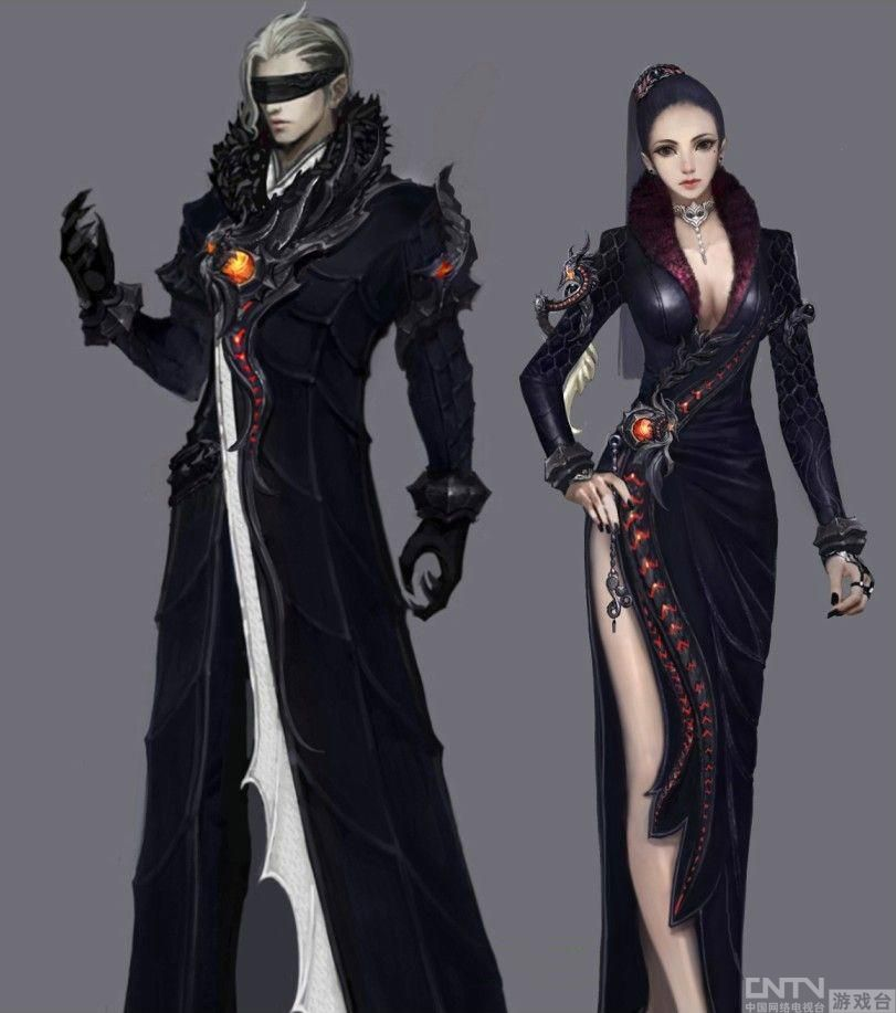 永恒之塔新版服装外形原画