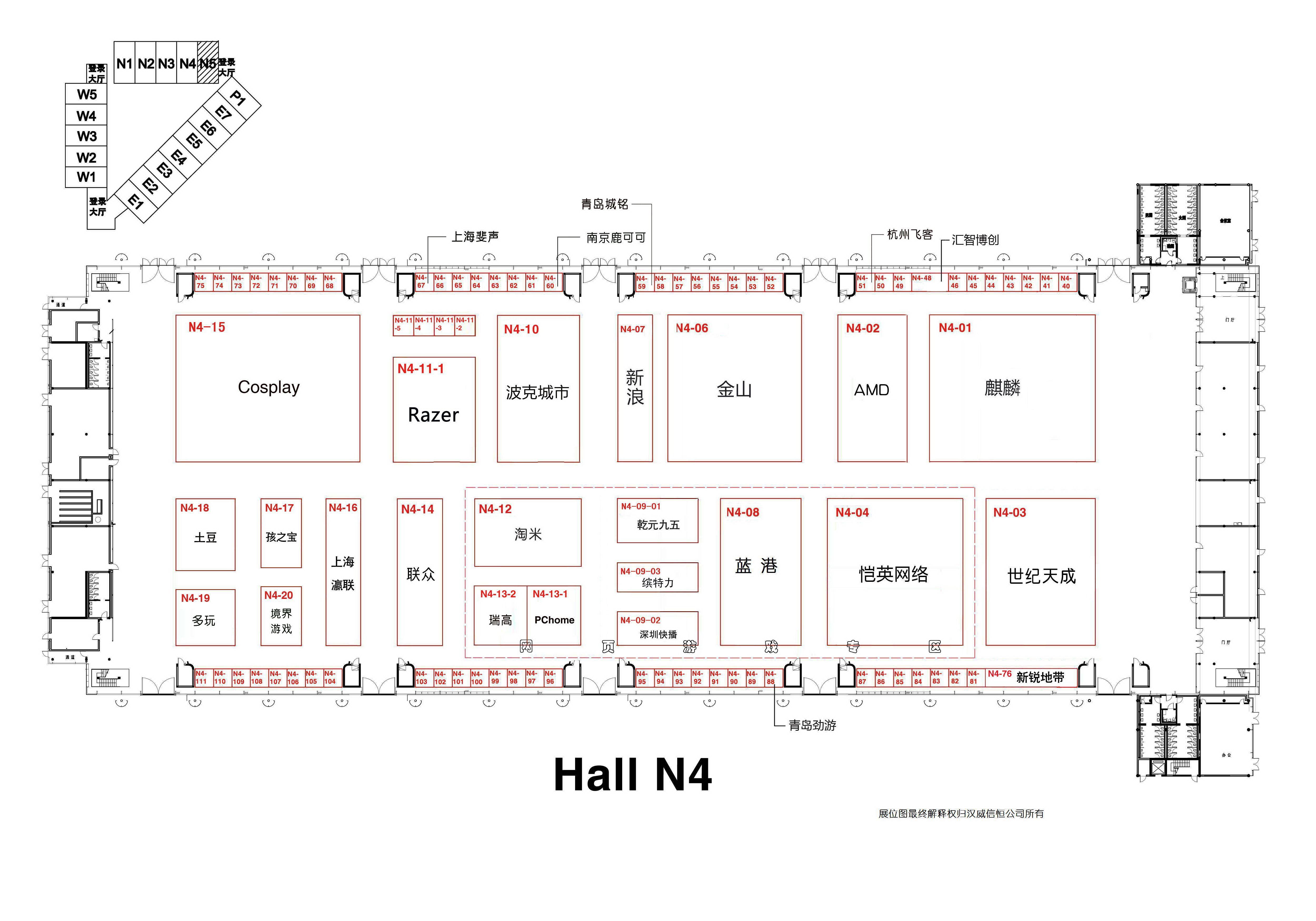 【2012】Chinajoy展馆平面展示图
