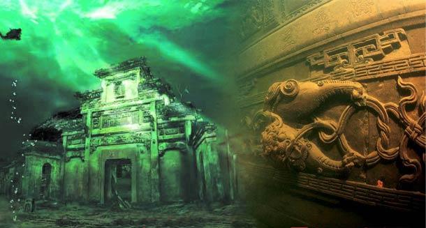 千岛湖水下古城探秘 千年狮城城墙显真容