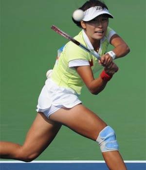 <font color=red>第二金</font>:软式网球女单 赵蕾