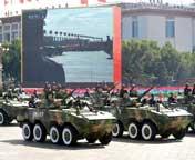 轮式步战车方队