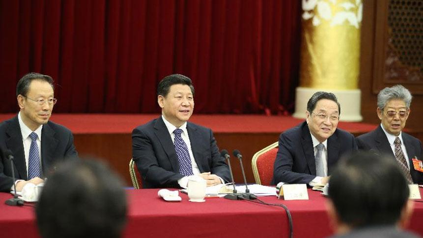 习近平等看望政协委员并参加分组讨论