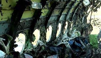 俄航迫降起火客机内部画面曝光图片