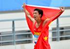 [高清组图]亚青会男子3000米决赛 刘洪亮夺冠