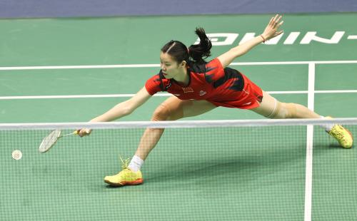 [高清组图]羽球大师赛:李雪芮晋级 女双3对进4强
