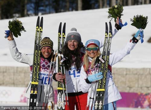 [高清组图]越野滑雪女子古典式 波兰运动员夺冠