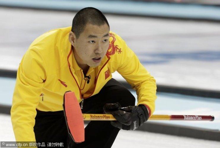 [高清组图]冬奥男子冰壶循环赛 中国9-6俄罗斯