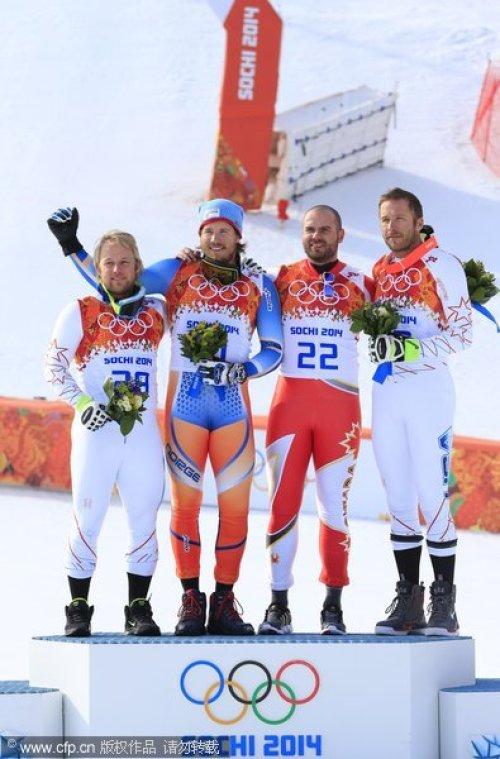 [高清组图]高山滑雪男子超级大回转 挪威选手夺冠