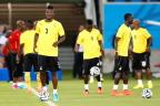 [高清组图]加纳队赛前训练 首场迎战美国队
