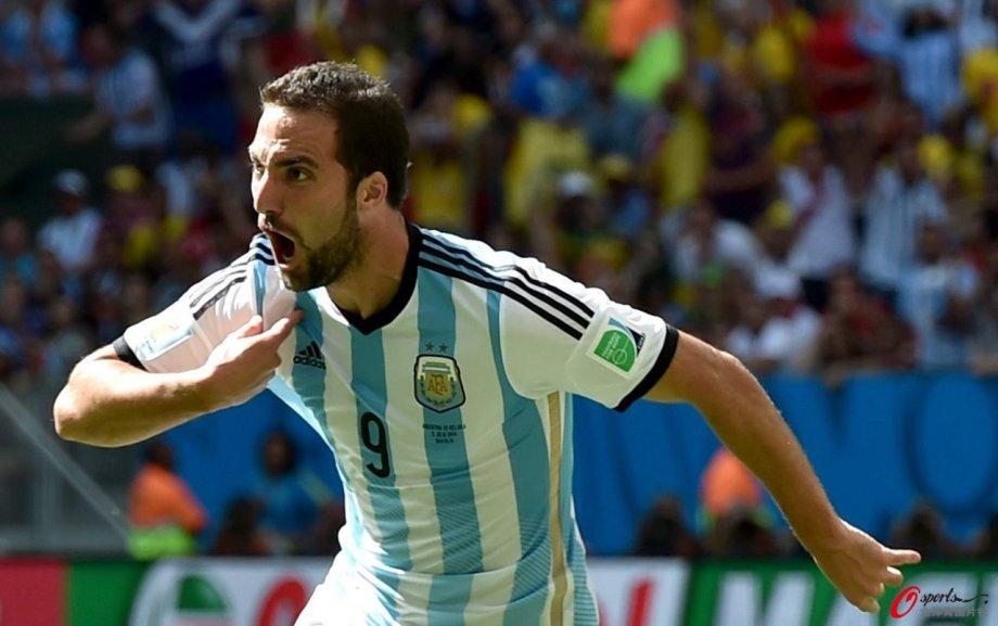 [高清组图]伊瓜因破门 阿根廷1-0比利时晋级四强