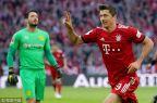 [高清組圖]萊萬梅開二度 拜仁5-0多特登榜首