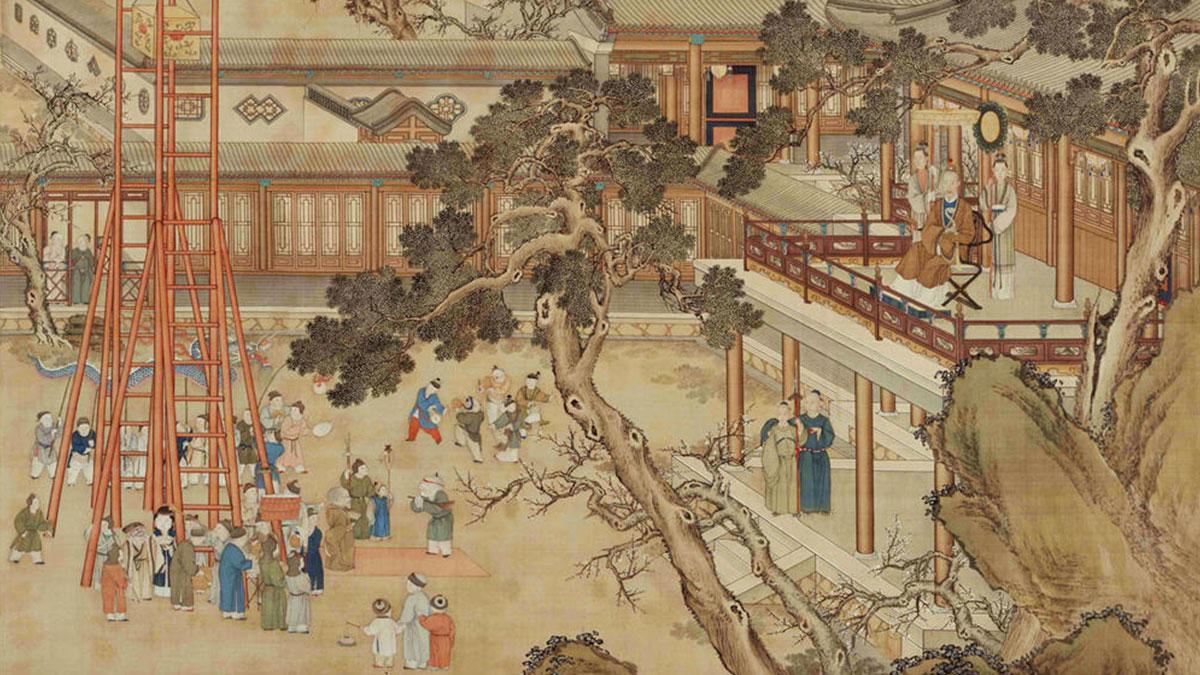【央视画廊】传世墨迹——古画里的上元节 看古人如何过元宵