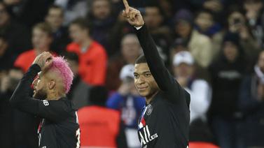 [图]内马尔助攻姆巴佩破门 巴黎5-0大胜13分领跑
