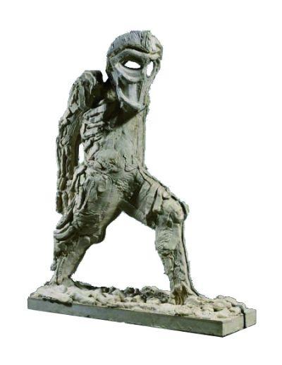 由乔志斌收藏的英国艺术家托马斯·豪斯雅戈的雕塑《Ghost of a Flea I》。