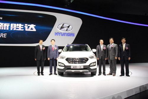 2012广州车展 北京现代新胜达正式登场