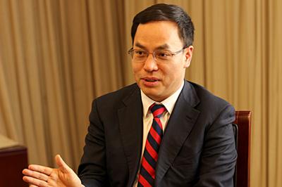 全国工商联新能源商会会长、汉能控股集团董事局主席李河君 记者罗潇 摄