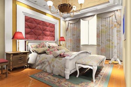 欧式卧室效果图,欧式卧室背景墙效果图,欧式卧室吊顶效果图,