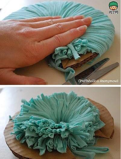 教你DIY布艺绣球装饰花的制作方法图解图片