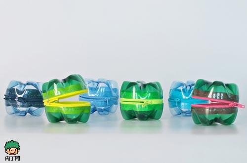 塑料瓶手工制作 废旧瓶底改造成的零钱包