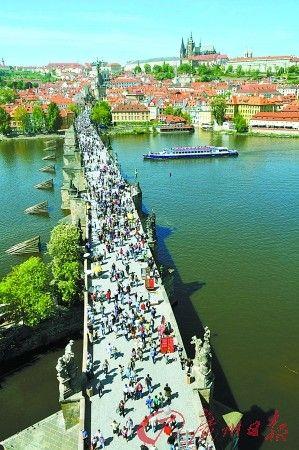 捷克首都布拉格的查理桥(新华社图片)
