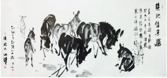 陕北著名画家江城作品