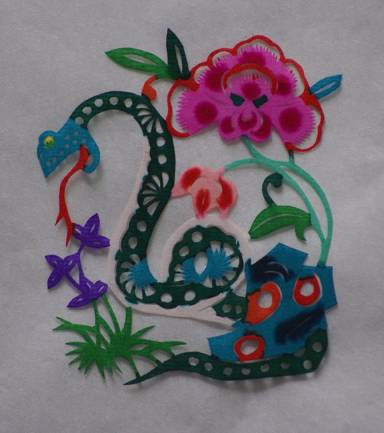 简单蛇年剪纸图案-可爱的蛇剪纸 蛇年剪纸图片大全图片