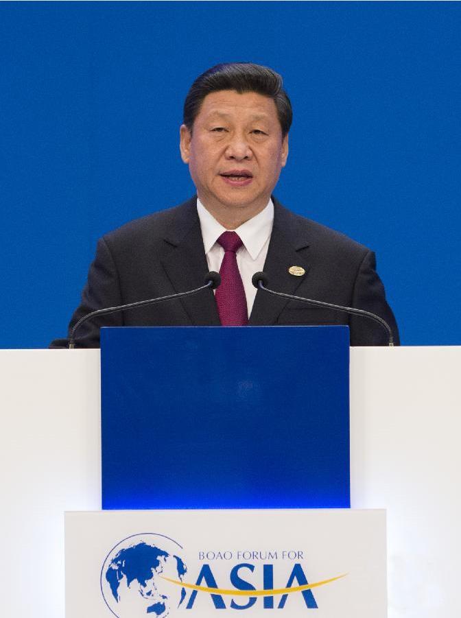 4月7日,中国国家主席习近平在海南博鳌出席博鳌亚洲论坛2013年年会开幕式并发表主旨演讲。