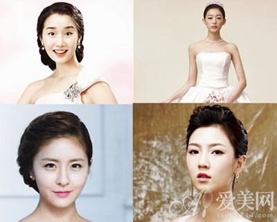 韩式无刘海新娘发型 突显女神气质