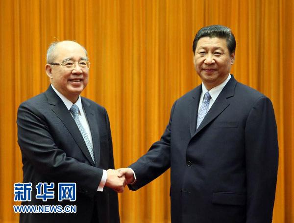 习近平会见中国国民党荣誉主席吴伯雄一行