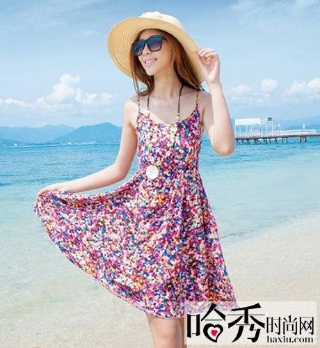 夏日吊带裙随意出街 尽享从未有过的清凉 高清图片