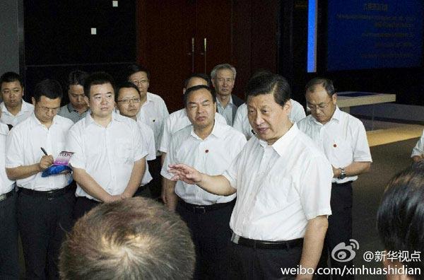 21日下午,习近平来到武汉东湖国家自主创新示范区