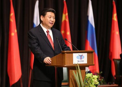 3月23日,国家主席习近平在莫斯科国际关系学院发表演讲。