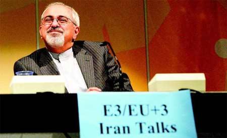 伊朗外长扎里夫出席记者会,伊朗核谈判首次达成共同声明
