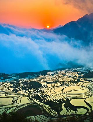 旅游台  旅游频道     元阳梯田景色最佳的月份是从每年11月至来年4月