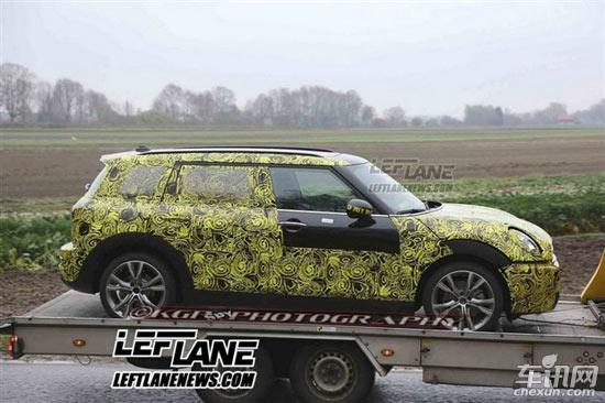 全新一代MINI衍生车谍照 采用五门加长设计