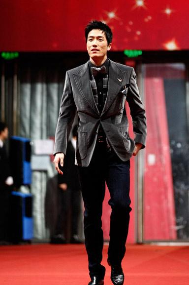 刘翔在2011年体坛风云人物颁奖盛典上。