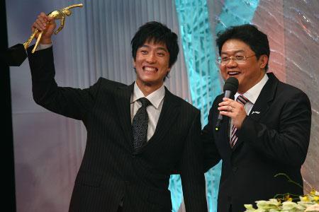 刘翔在2006年体坛风云人物颁奖盛典上。