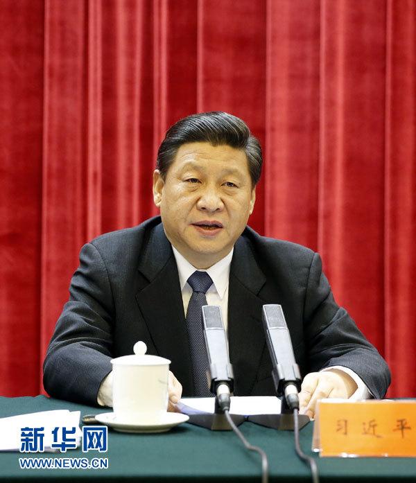 12月26日,中共中央在北京人民大会堂举行纪念毛泽东同志诞辰120周年座谈会。中共中央总书记、国家主席、中央军委主席习近平发表重要讲话。新华社记者 鞠鹏 摄