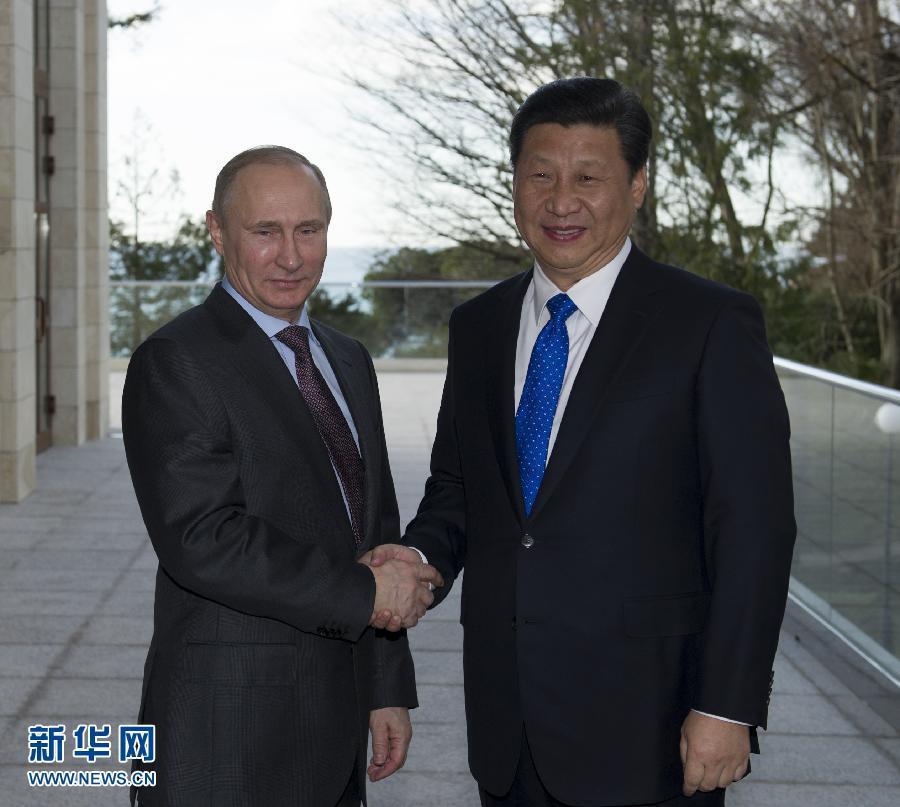 2月6日,习近平主席在俄罗斯索契会见普京总统。