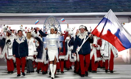 C罗女友伊莲娜任俄罗斯代表团举牌女郎