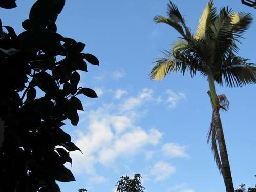 碧空如洗 云朵舒卷