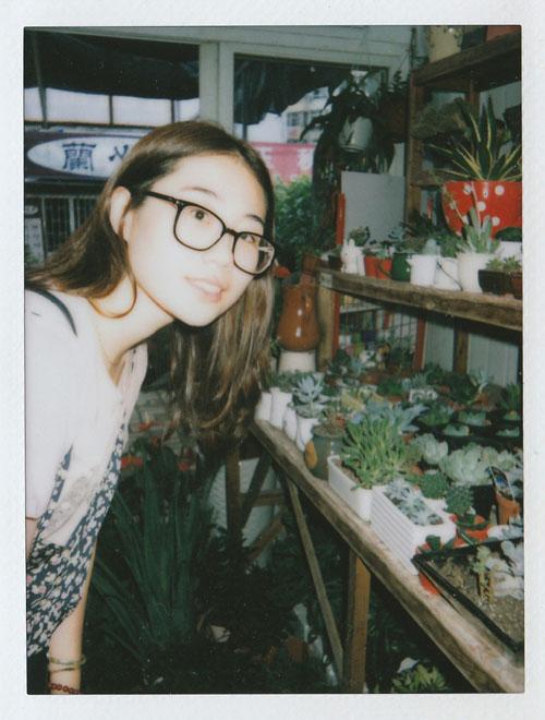 作者与植物们的合影