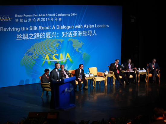 China's state councillor Yang Jiechi has held talks with other senior leaders from Asian countries on the sidelines of the Boao Forum for Assia about reviving the Silk Road.